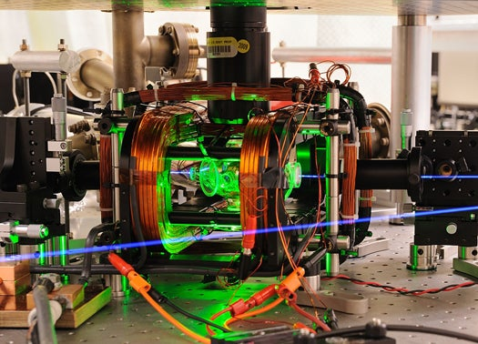 NIST Scientists Use Microwaves to Quantum-Entangle Two Ions for the First Time