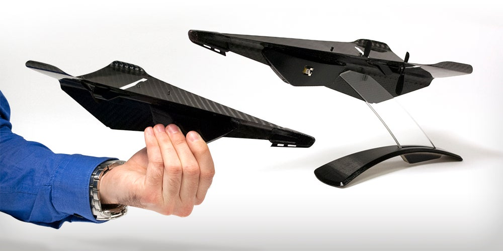 Carbon Fiber Drone Looks Like A Tough Paper Airplane