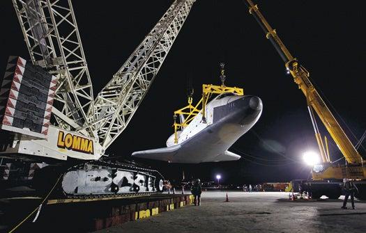 Megapixels: Space Shuttle Enterprise Gets Grabbed By a Crane