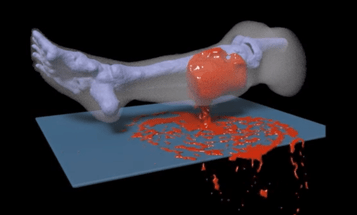 Here's A Model Of Exactly How A Leg Bleeds Once It's Been Shot