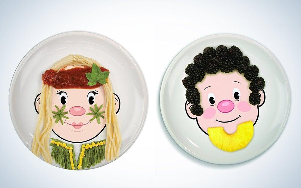 Food Face Kids' Ceramic Dinner Plates