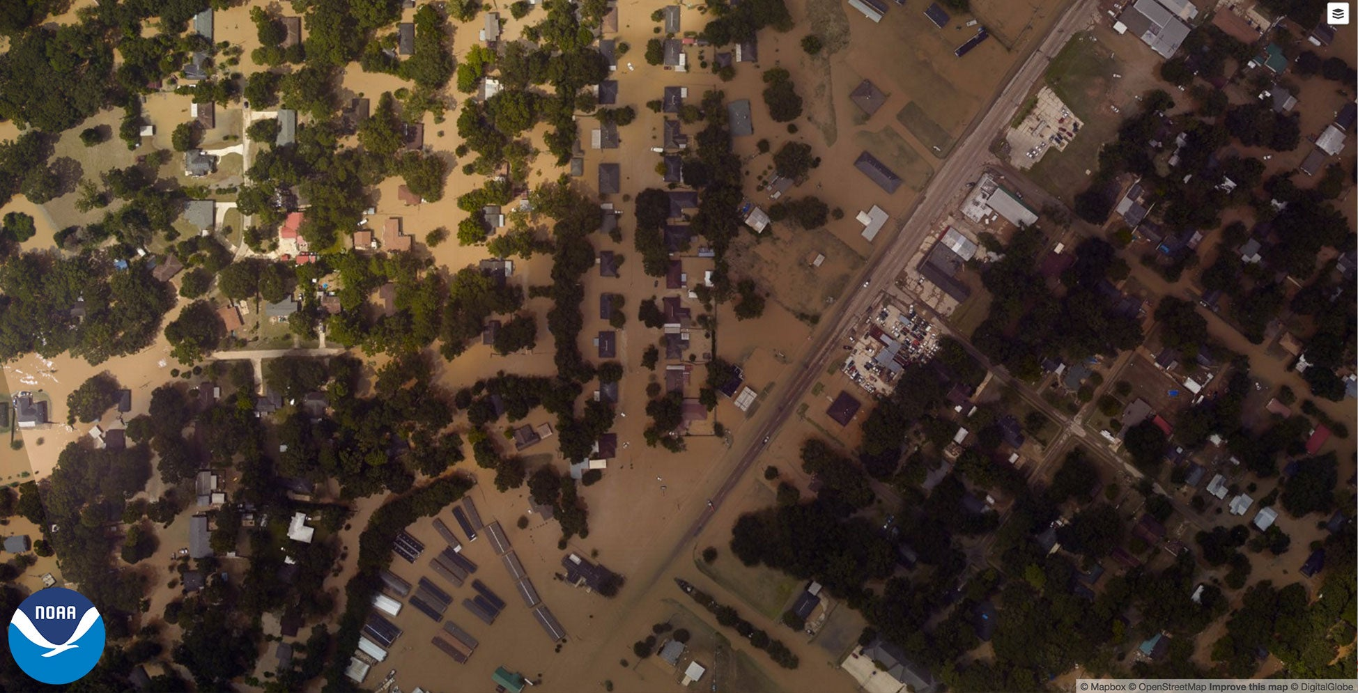 NOAA Captures The Extent Of Louisiana's Flooding In Aerial Images