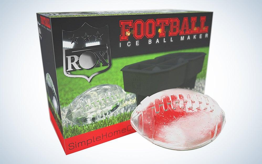ROX football shaped ice cube tray