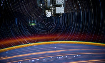 A Series of Long Exposures Aboard the ISS Produces a Psychedelic Swirl of Stars