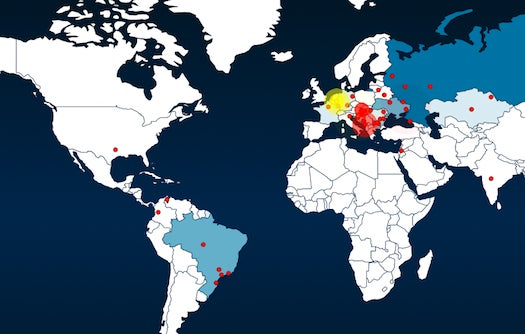 Watch Cyberattacks Spread Across The Globe In Real Time [Infographic]