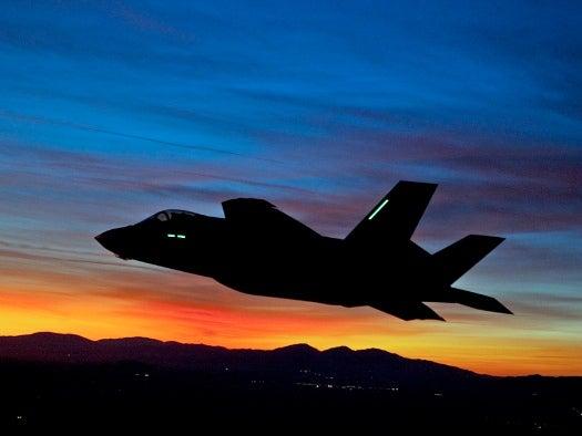 In Its First Night Flight, the F-35 Soars at Sundown