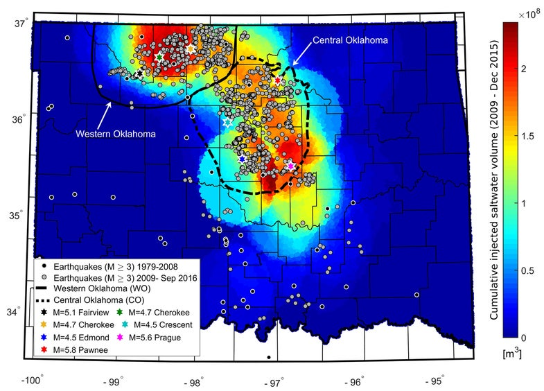 Less wastewater injected into the ground means less shaking in Oklahoma