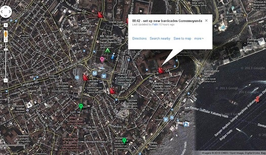 Big Pic: How Turkish Protesters Use Google Maps To Track Police
