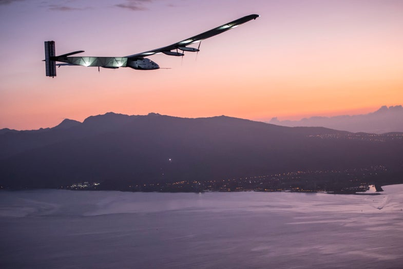 Solar Impulse Landing In Hawaii