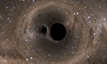 Clone of Big Pic: Simulated Black Hole Collision Shreds The Milky Way [ANIMATED]