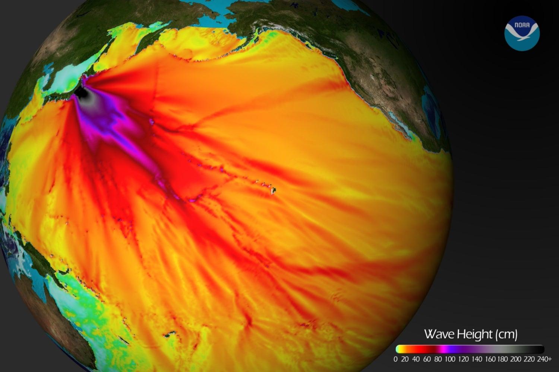 NOAA Video Shows Earthquake Tremors Propagating Across the World