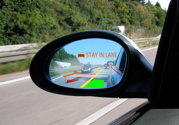 Holographic Projector Puts Heads-Up Displays on Your Car's Side View Mirrors