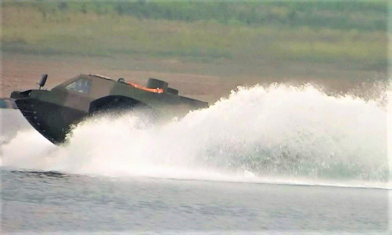 North China Institute of Vehicle Research Amphibious Vehicle