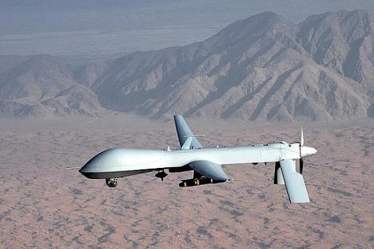 MQ1-predator UAV drone in flight