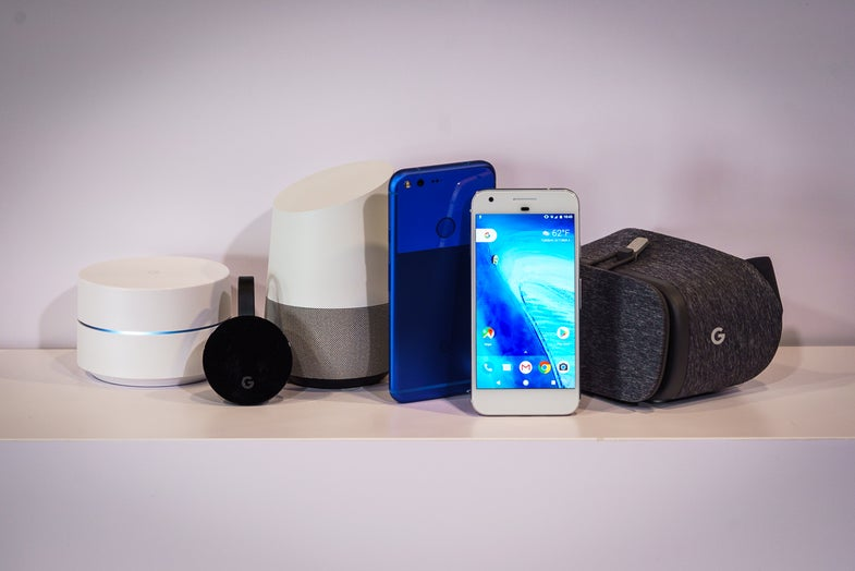 Hands-On With The Google Pixel, Daydream View, And Home