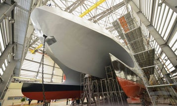 Taiwan Navy Launches New Stealth Boat