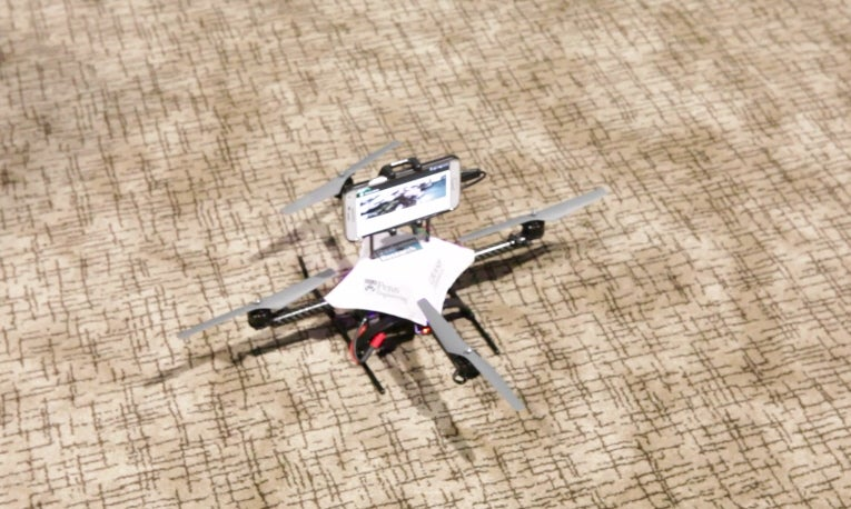 Phone Flies A Drone With Its Own Internal Camera