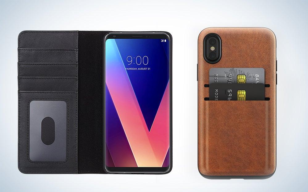 Smartphone wallet cases