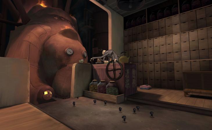 Screenshot of VR Ghibli scene