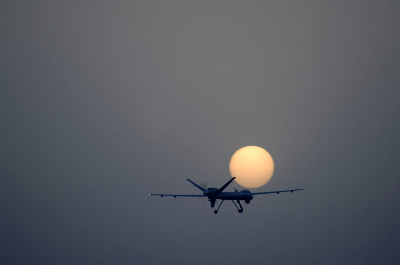 Reaper Over Joint Base Balad In Iraq