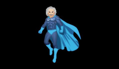 Einstein as a superhero
