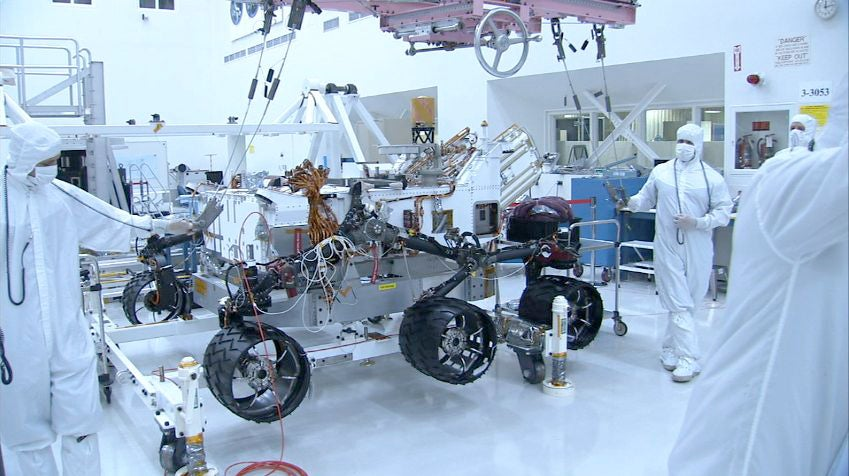 NASA's Curiosity Mars Rover Gets New Steering System, Will be First Rover to Land Directly on its Wheels