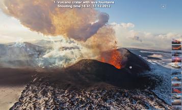 Aerial Panoramas Capture Four Kamchatkan Volcanoes Erupting Simultaneously