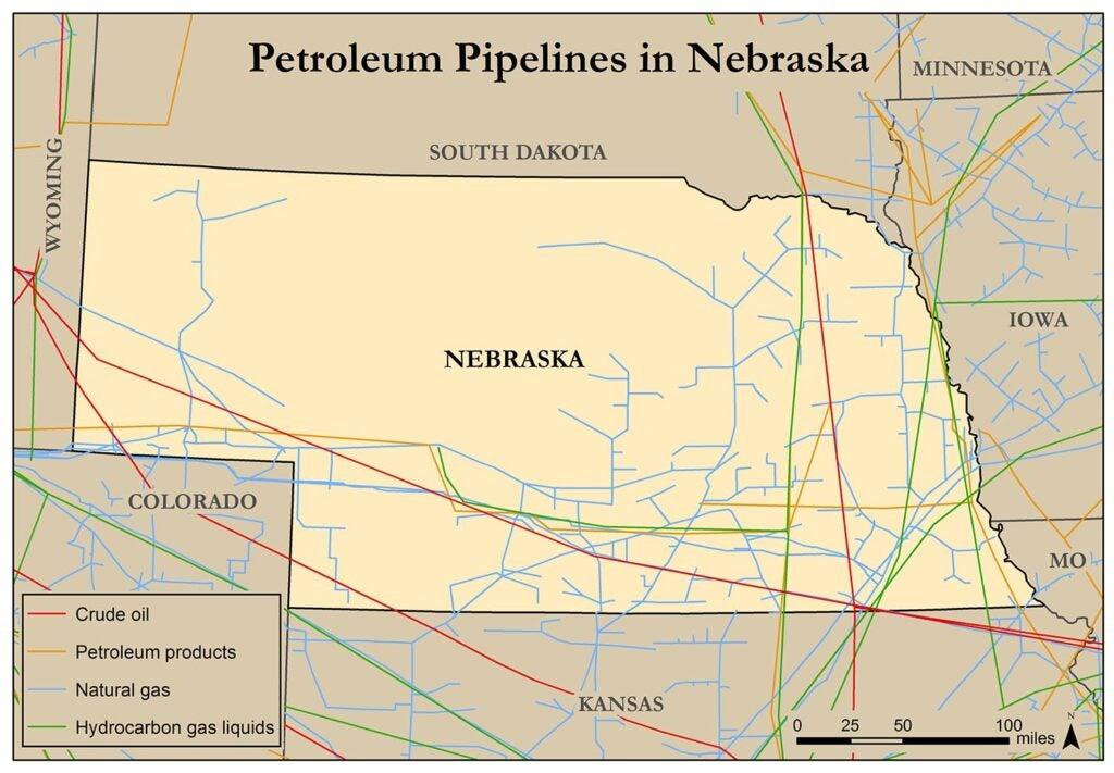 Nebraska pipeline map