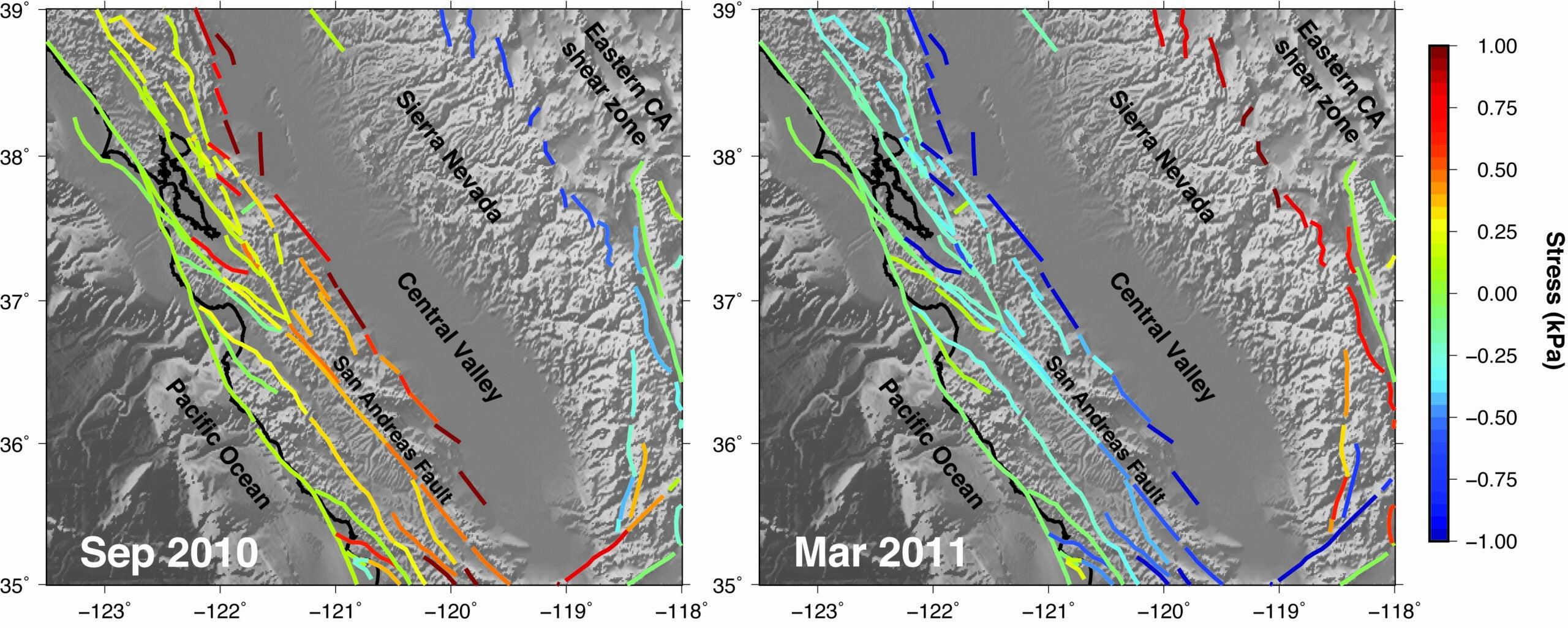 seasonal earthquake stress