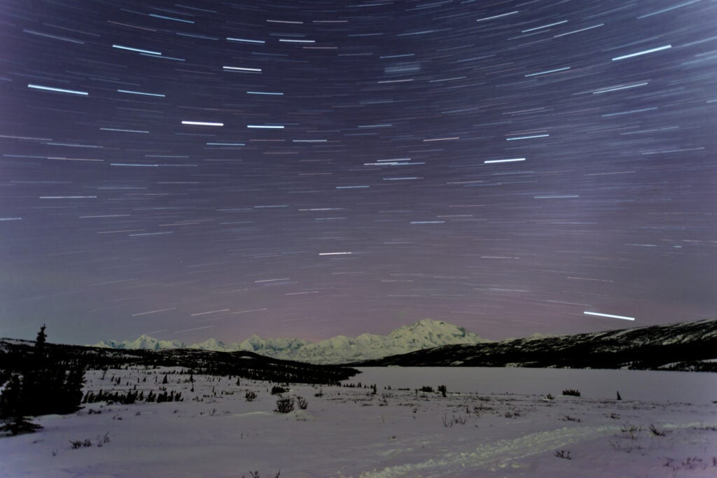 Denali star trails