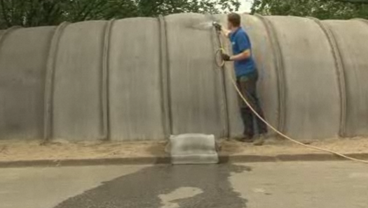 'Concrete Canvas' Makes Erecting Permanent Buildings As Easy as Pitching a Tent