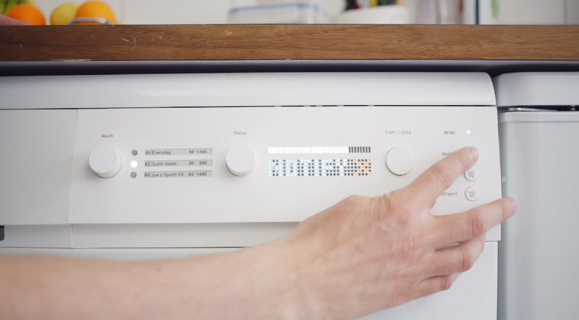 Prototype Washing Machine Orders Detergent Online