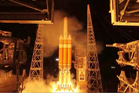 Video: Largest Rocket Lifts Largest Satellite Ever Into Space, Where It Will Spy on US Enemies