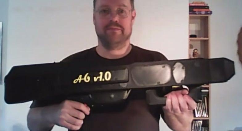 A6 V1.0 Paper Airplane Gun