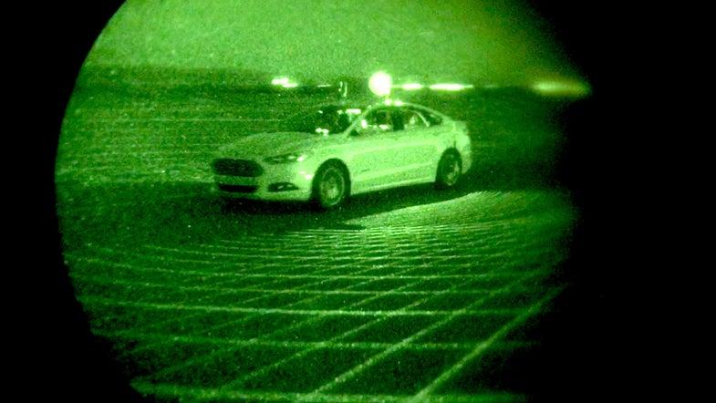 Autonomous Ford Fusion Hybrid Drives In The Dark