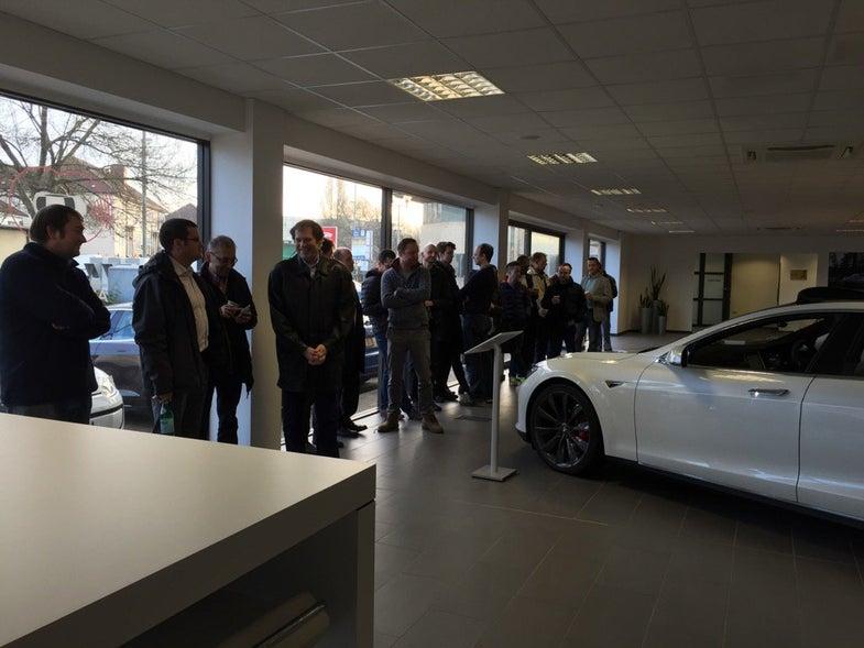 Tesla Model 3 line in London