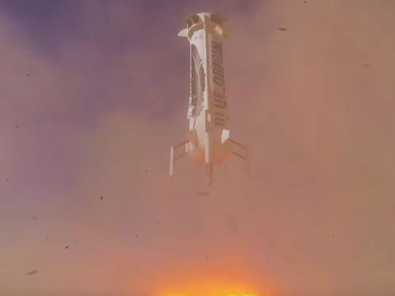 Watch Blue Origin Re-Launch And Re-Land Its Reusable Rocket