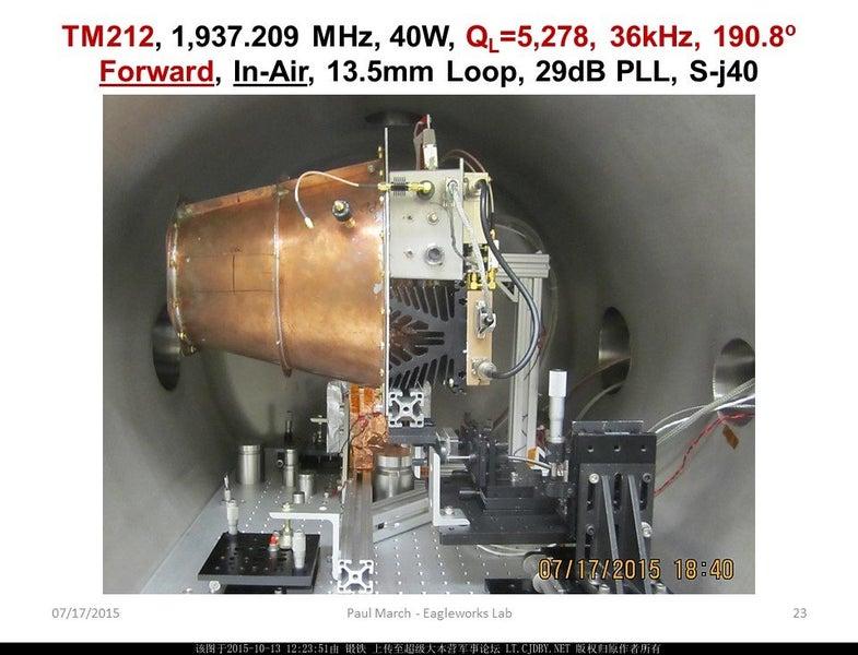 NASA Eagleworks EmDrive