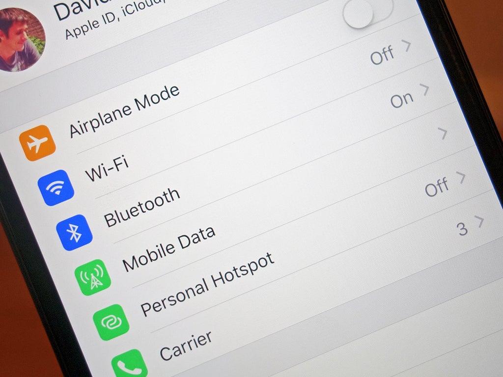 Wi-Fi settings on an Apple iPhone.