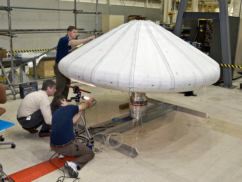 NASA Successfully Tests Vacuum-Packed Inflatable Heat Shield