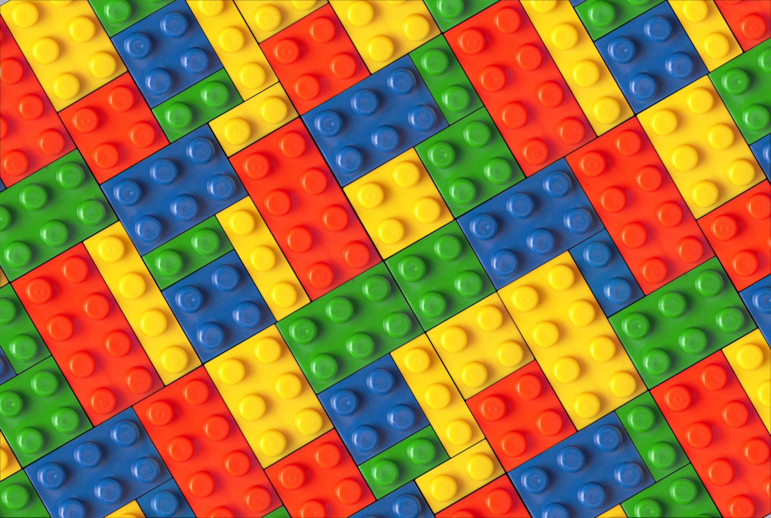 a pattern of colorful lego blocks