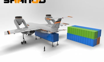 Canadian Designer Imagines Drones That Carry Shipping Containers