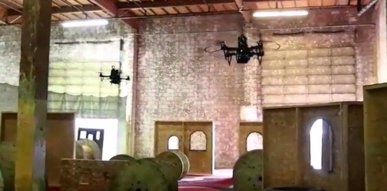 Autonomous Quadcopters Navigate A Course