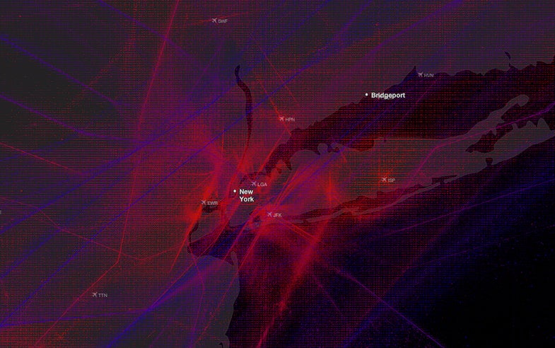 These Beautiful Maps Of Flights Around The World Look Like Abstract Art