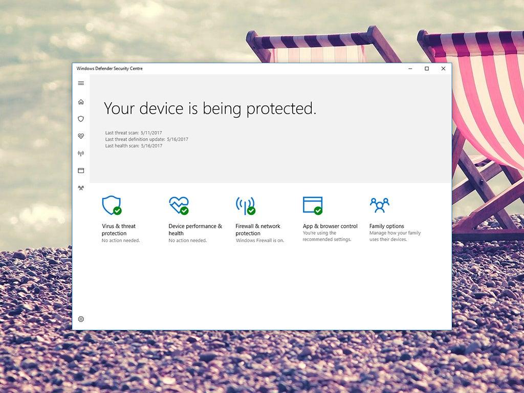 Windows Defender, antivirus protection for Windows computers.
