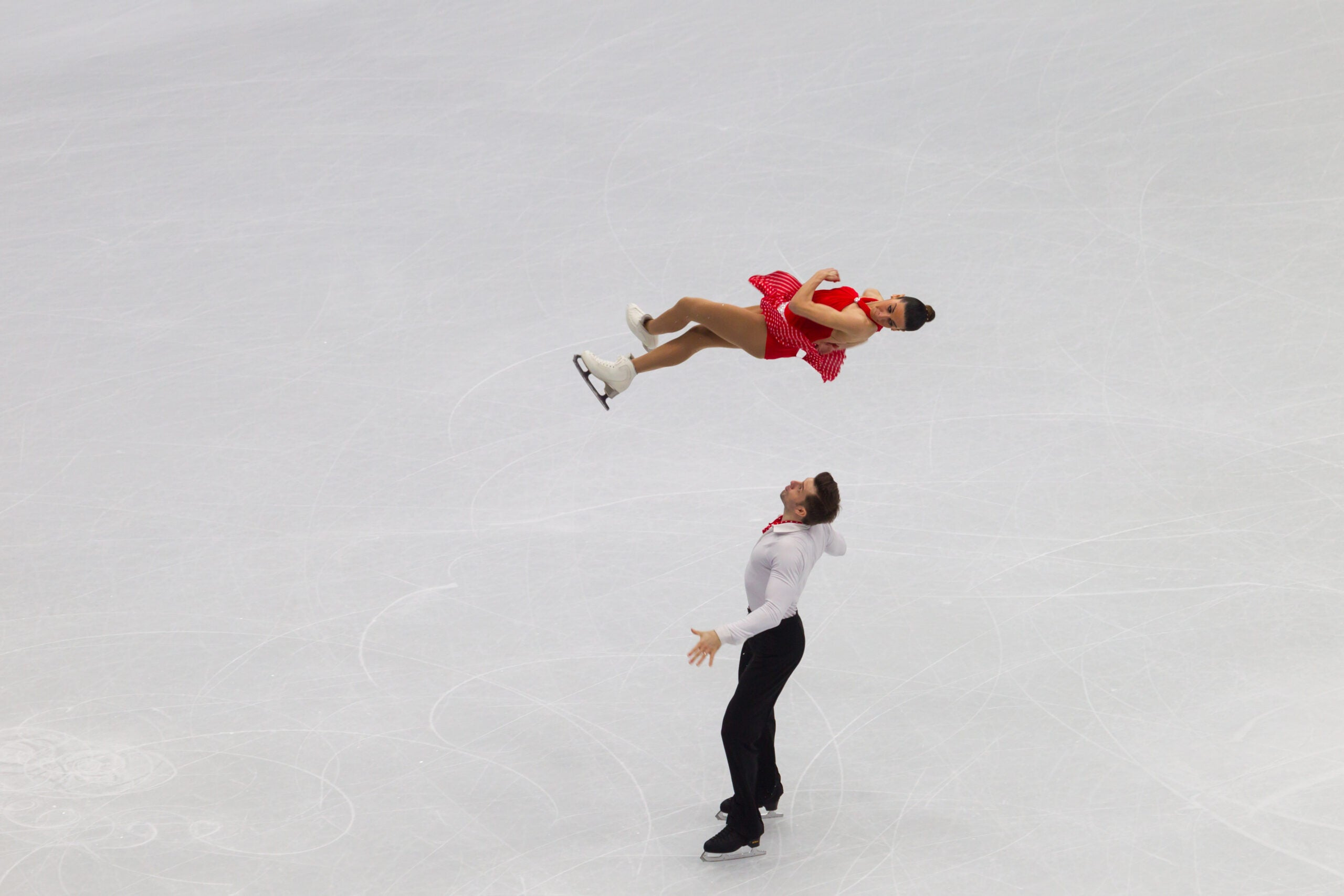 Figure skaters have to train themselves to ignore their natural reflexes