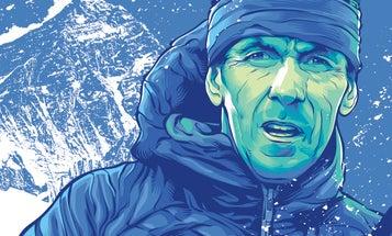 Extreme skier Davo Karnicar folds his skis