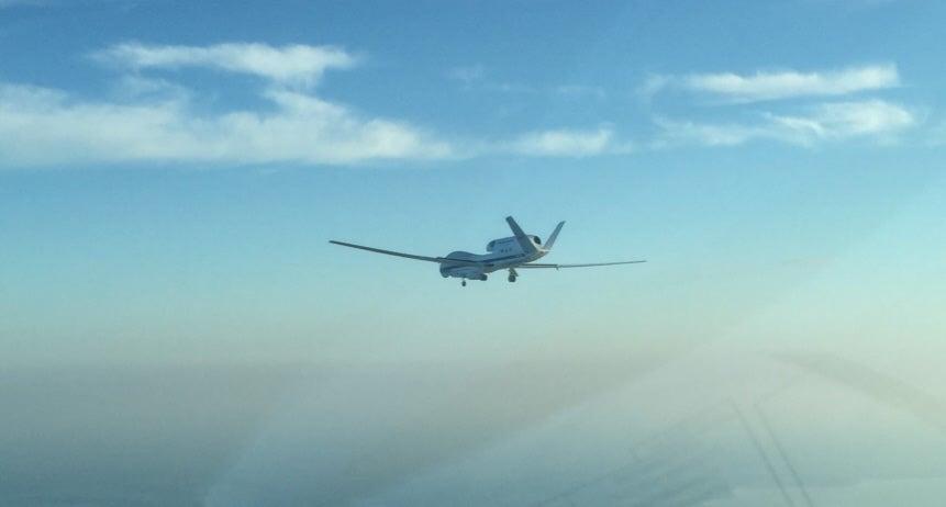 Global Hawk On Descent