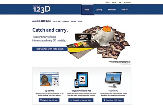 Website Of The Month: Autodesk 123D Catch