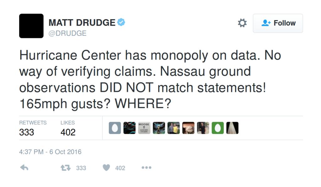 Hurricane skepticism from @DRUDGE